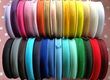 """50M ROLL BEST QUALITY COTTON BIAS BINDING-25 MM/1"""" WIDE. CHOOSE FROM 27 COLOURS"""