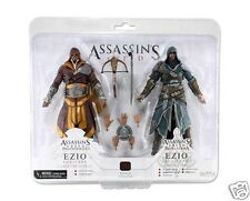 EZIO FLORENTINE SCARLET CASPIAN TEAL ASSASSIN'S CREED NECA 2 ACTION FIGURE SET