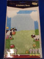 RARE On the Farm Animal Barnyard Birthday Party Printable Invitations w/Envelope