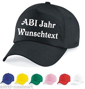 Base Cap - Mütze - ABI Jahr / Wunschtext - verschiedene Farben - Neu - Kappe