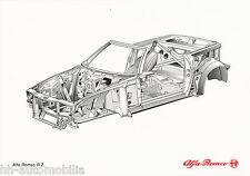 Bildprospekt Alfa Romeo RZ Zagato 1992 Chassis Frame Prospekt brochure PKW Auto