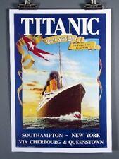 Titanic, White Star Line, Southampton-New York, Poster Ocean Liner Ship