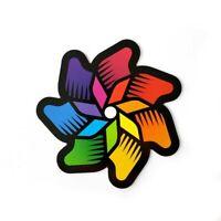 Rainbow Pinwheel Magnet for Refrigerator, Car Bumper, Office
