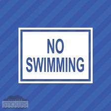 No Swimming Sign Vinyl Decal Sticker