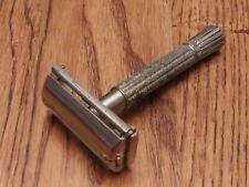 Vintage Gillette Safety Razor Date Code F-1 Excellent Shaver Top Loader