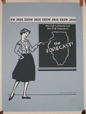 Forecast Poster Silkscreen The March 17 19 2010 Austin Signed And Numbered