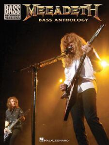 MEGADETH BASS GUITAR TAB  / ***BRAND NEW*** / BASS ANTHOLOGY / BASS SONGBOOK
