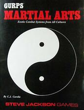 1990 GURPS MARTIAL ARTS EXOTIC COMBAT SYSTEMS BY C.J. CARELLA KARATE KUNGFU