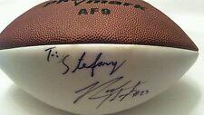 RODNEY HAMPTON SIGNED NFL FOOTBALL NEW YORK GIANTS #27 Autographed NY Full size