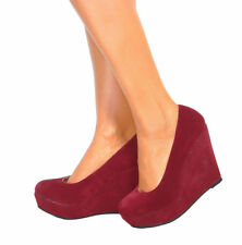 Platforms & Wedges Suede Medium (B, M) Party Heels for Women