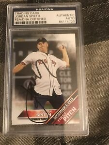2016 Topps First Pitch Jordan Spieth Boston Red Sox Signed Autographed JSA & PSA