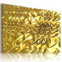 FRACTAL GOLDEN MODERN DESIGN CANVAS WALL ART PICTURE LARGE AZ301  MATAGA .