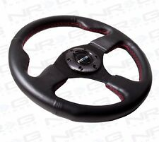 NRG Steering Wheel 320mm Race / Sport Type-R Black Leather Red Stitch