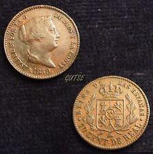 *GUTSE*580-ISABEL II, 10 CENTIMOS DE REAL 1859, SEGOVIA, EBC-