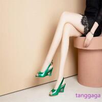 Summer Women Peep Toe Star Wedges Slingback Sandal Pumps Plus Size  US Size 3-15