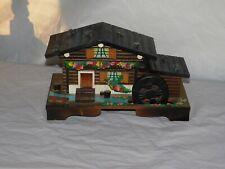 old vintage antique Swiss Thoren Anri music box jewelry chalet Switzerland case
