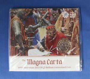 "2015 Royal Mint £2 coin ""Magna Carta"" in Folder - Factory Sealed"