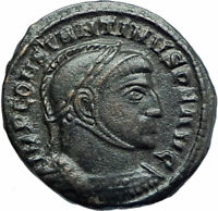 CONSTANTINE I the GREAT 318AD Authentic Ancient Roman Coin VICTORY ANGELS i79268