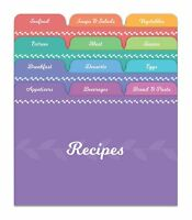 Jot & Mark Recipe Card Dividers   24 Tabs, for 4x6 Cards to Organize Recipe Box