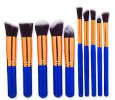 10pcs Makeup Brushes Set Professional Foundation Cosmetic Blue Handle Brush Kit