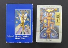 SEALED Large Vtg Aleister Crowley Thoth Tarot Cards Deck 3 Magi 1986 Swiss Box
