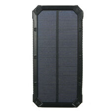 900000mAh 2 USB Solar Power Bank Battery Charger Waterproof For Cell Phone