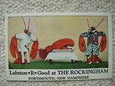 LOBSTER-ROCKINGHAM-PORTSMOUTH NH-NEW HAMPSHIRE-DRESSED-ANTHROPOMORPHIC-FOOD