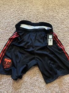 NEW Adidas MLS Soccer Portland Timbers Shorts Black Red Adult Large Authentic