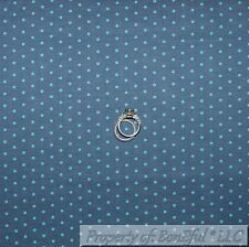 BonEful Fabric FQ Cotton Quilt Blue Aqua Teal Chambray French Polka DOT S Stripe
