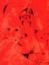Miro - The Shrew. - Original Lithograph - 1956 - Free Shipping In The Us !