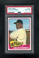 1965 TOPPS #377 WILLIE STARGELL HOF PITTSBURGH PIRATES PSA 8 NM/MT++SHARP CARD!