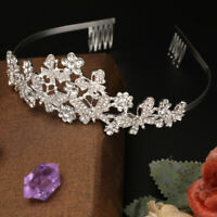 Birthday Diadem Wedding Princess Bridal Crown Crystal Rhinestone Butterfly Tiara