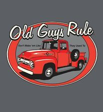 "OLD GUYS RULE "" RED TRUCK "" "" DON'T MAKE THEM LIKE THEY USED TO  V8 S/S SIZE  XL"