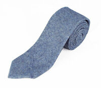 "Panciotti Men's 100% Wool Solid Texture Pattern Slim Neck Tie 3.25"" Width"