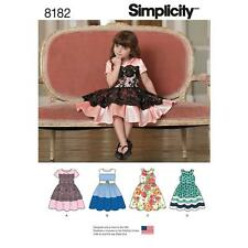 SIMPLICITY SEWING PATTERN CHILD'S PARTY DRESS SIZE 3 - 8 8182