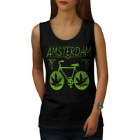 Wellcoda Amsterdam Weed Bike Womens Tank Top, Holland Athletic Sports Shirt