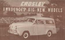 CROSLEY 1949 BROCHURE PROSPEKT CATALOGUE CATALOGO