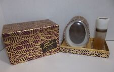 Vintage Faberge Woodhue Bath Set