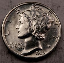 1939 Mercury Dime - Gem BU - 90% Silver - #670