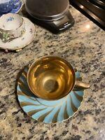 Unique Royal Vienna Porcelain Tea Cup And Saucer 18th Century Gold Trim.