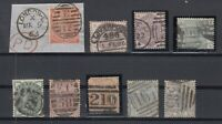 X2437/ GREAT BRITAIN – VICTORIA – 1862 / 1884 USED CLASSIC LOT – CV 1325 $