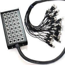 30m -32 XLR 3 Broches Multicore câblage Pré-assemblé / Serpent Câble 28 entrée 4