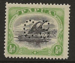 PAPUA  SG 027  1910 PERF II  1/2d OFFICIAL    MOUNTED MINT