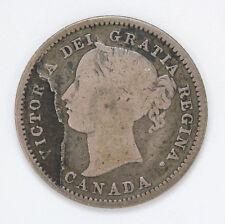 1870 Canada Silver 10 Cent Victoria  - VG #01274719g