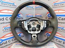 Nissan 370Z Nismo Steering Wheel Black Red Leather Suede 15/11 *6