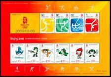 CHINA 2008-18 Beijing 2008 Olympic Sport 1+2 souvenir sheet