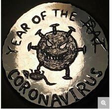 1 OZ .999 PURE SILVER YEAR OF THE RAT CORONA TRADE APOCALYPSE ROUND BAR BULLION