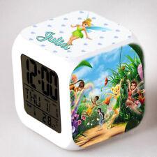 Reveil cube led lumière nuit alarm clock clochette personnalisé prénom réf 23