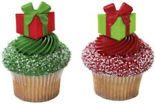 24 Christmas Festive Gifts Cupcake Picks Cake Topper Decoration Holiday Present
