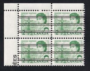 Canada 1967 precancelled QEII 2¢ Centennial issue, MLH UL PB, sc#455xx